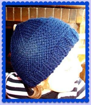 bonnet enfant style marin tricoté mains