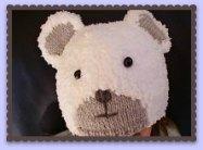 bonnet enfant tricoté mains ourson