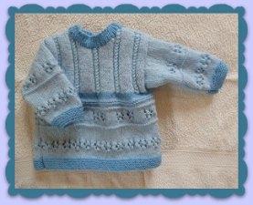 Brassi? naissance bi-colore tricot?main