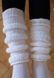 Création Jambières enfant tricotées main
